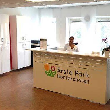Årsta Park Kontorshotell, receptionen.